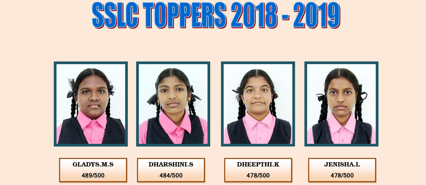 Assisi Matriculation School SSLC TOPPERS 2018-19