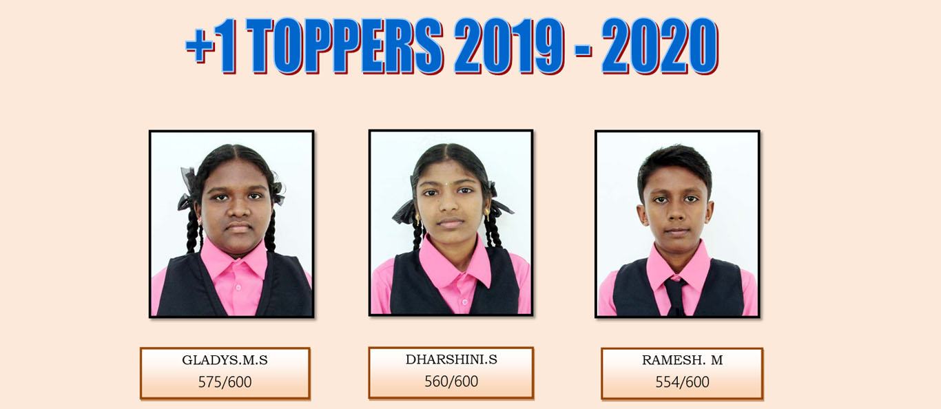 Assisi Matriculation School HSC 11TH TOPPERS 2019-20